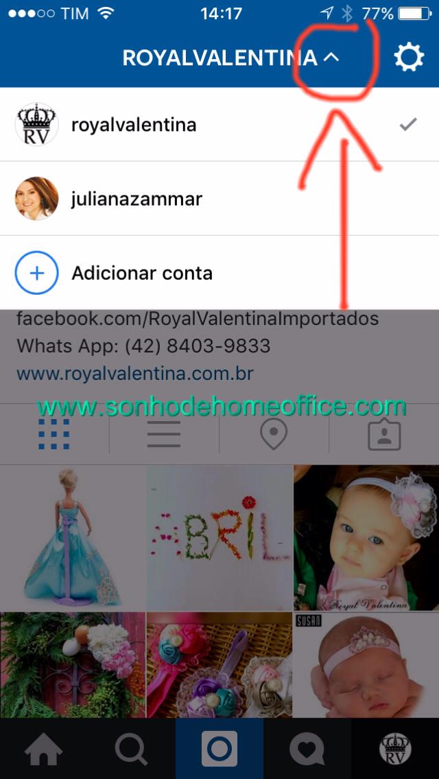 como usar duas contas do instagram no mesmo aparelho